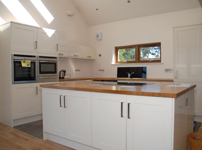 Jb all trades ltd house extensions glasgow fitted for Fitted kitchen designs