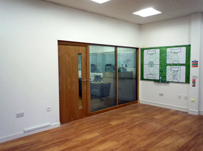 Installing Glass Partitions