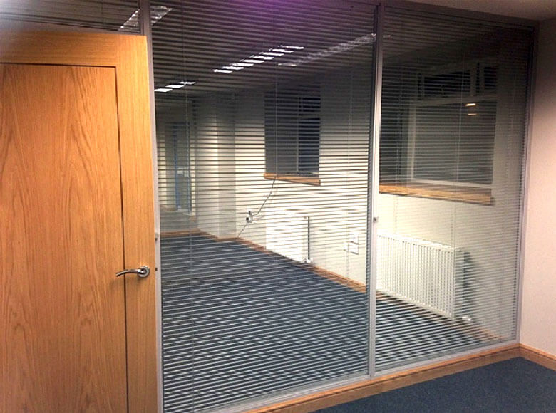 New Office Layout showing Glass Partitions